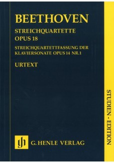 Streichquartette op. 18,1-6 und Streichquartettfas