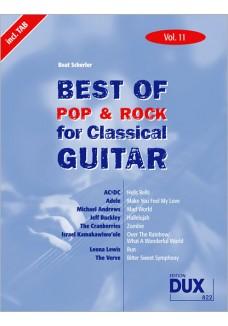 Best of  Pop & Rock for Classical Guitar Vol. 11