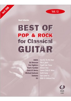 Best of Pop  & Rock for Classical Guitar Vol. 12