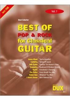 Best of Pop & Rock for Classical Guitar Vol. 7