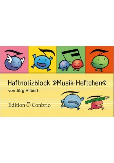 Haftnotizblock Musik-Heftchen