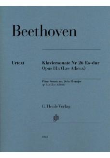 Klaviersonate Nr. 26 Es-dur op. 81a (Les Adieux)
