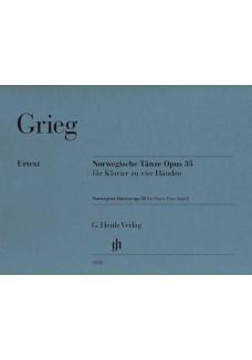 Norwegische Tänze op. 35 f. Klavier zu vier Händen