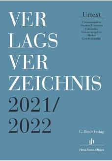 Henle Verlagsverzeichnis 2021/2022
