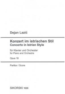 Konzert im istrischen Stil Opus 18