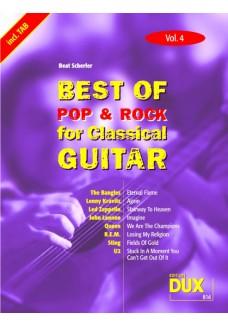 Best of Pop & Rock for Classical Guitar Vol. 4